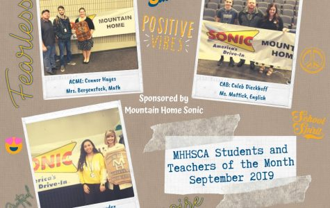 MHHS awards Teacher of the Month for September