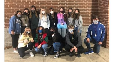 Photo: (front row, left to right) Haylee Johnson, Emma Scott, Brianna Ifland, Cayden Sabella, Hayden Moore, (back row, left to right) Carlie Corales, Ella McCurley, Mallory Pierski, Kinsey Taylor, Isabelle Babin, Liz Chamberlin, Zoe Croom, Abigail Chamberlin, Not pictured are Jayden Henson and Lane Mattey.