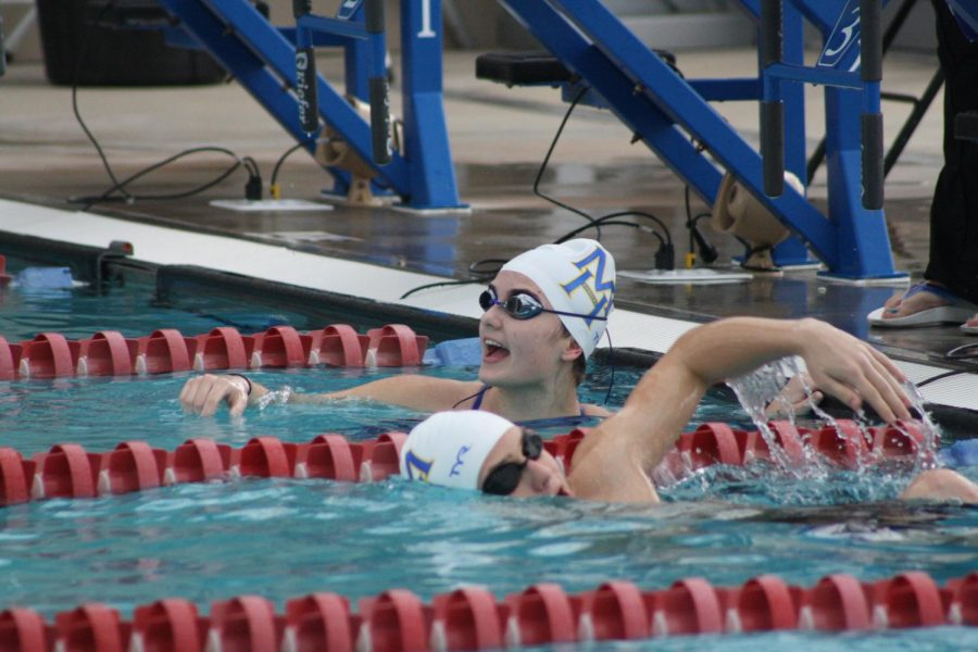 MH swim teams finish 2nd in conference meet