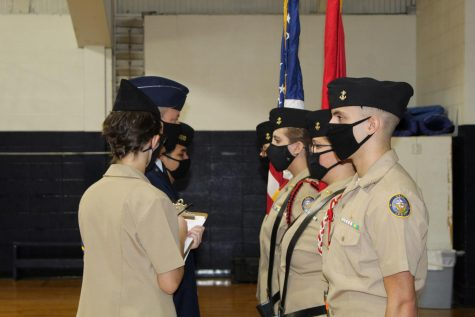 Bomber Navy JROTC Program Receives Outstanding Rating