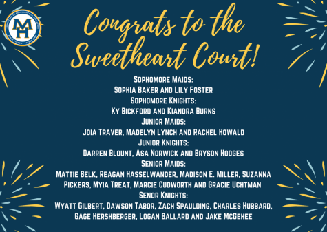 MHHS Announces Sweetheart Court