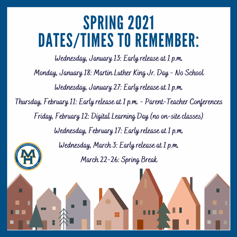 Important Dates for the Spring Semester