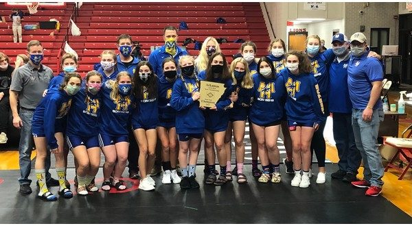 MH girls' wrestling team wins inaugural dual state title