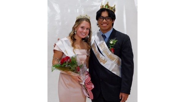 Belk, Hubbard named Sweetheart Royalty queen, king; juniors win banner competition