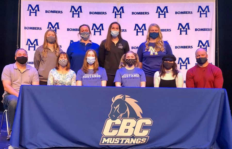 2 MHHS volleyball players signed to Central Baptist